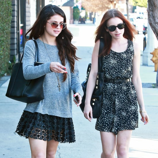 Selena Gomez and Lily Collins at Sushi Dan | Pictures