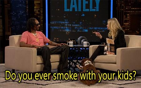When She Asked Snoop Lion About His Parenting Skills