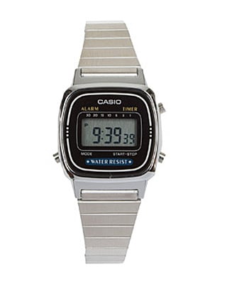 Silver, Stainless Steel, Alarm Watch ($80)