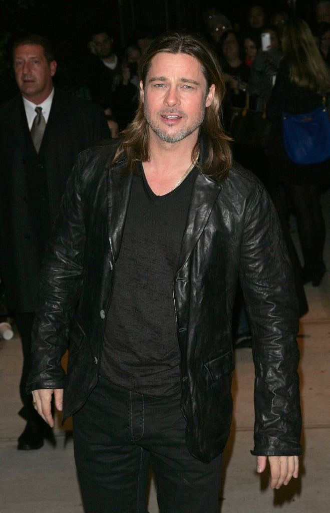 Brad Pitt stepped out in NYC for the Killing Them Softly screening.