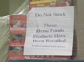 IMPORTANT:  Pet Food Recall