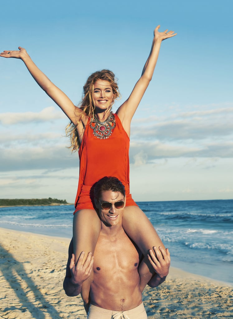 Pair the bold orange hue with standout jewels, as Doutzen Kroes so expertly shows off in the H&M High Summer campaign.