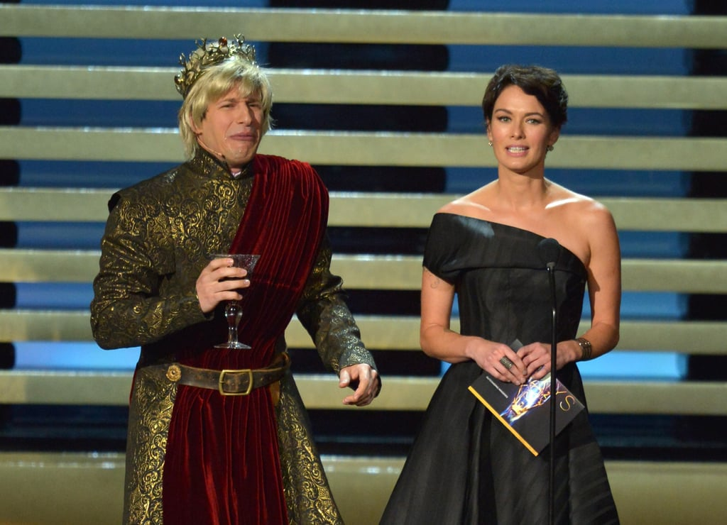 """Mother, why don't you love me like you love Uncle Jaime?"" — Andy Samberg, pretending to be Joffrey from Game of Thrones to Lena Headey"