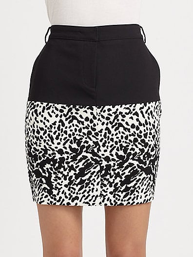 Tibi's Animal Print Crepe Skirt ($106, originally $265) can go casual to dressed up, day to night, Summer to Fall with the switch of a top and a few accessories.