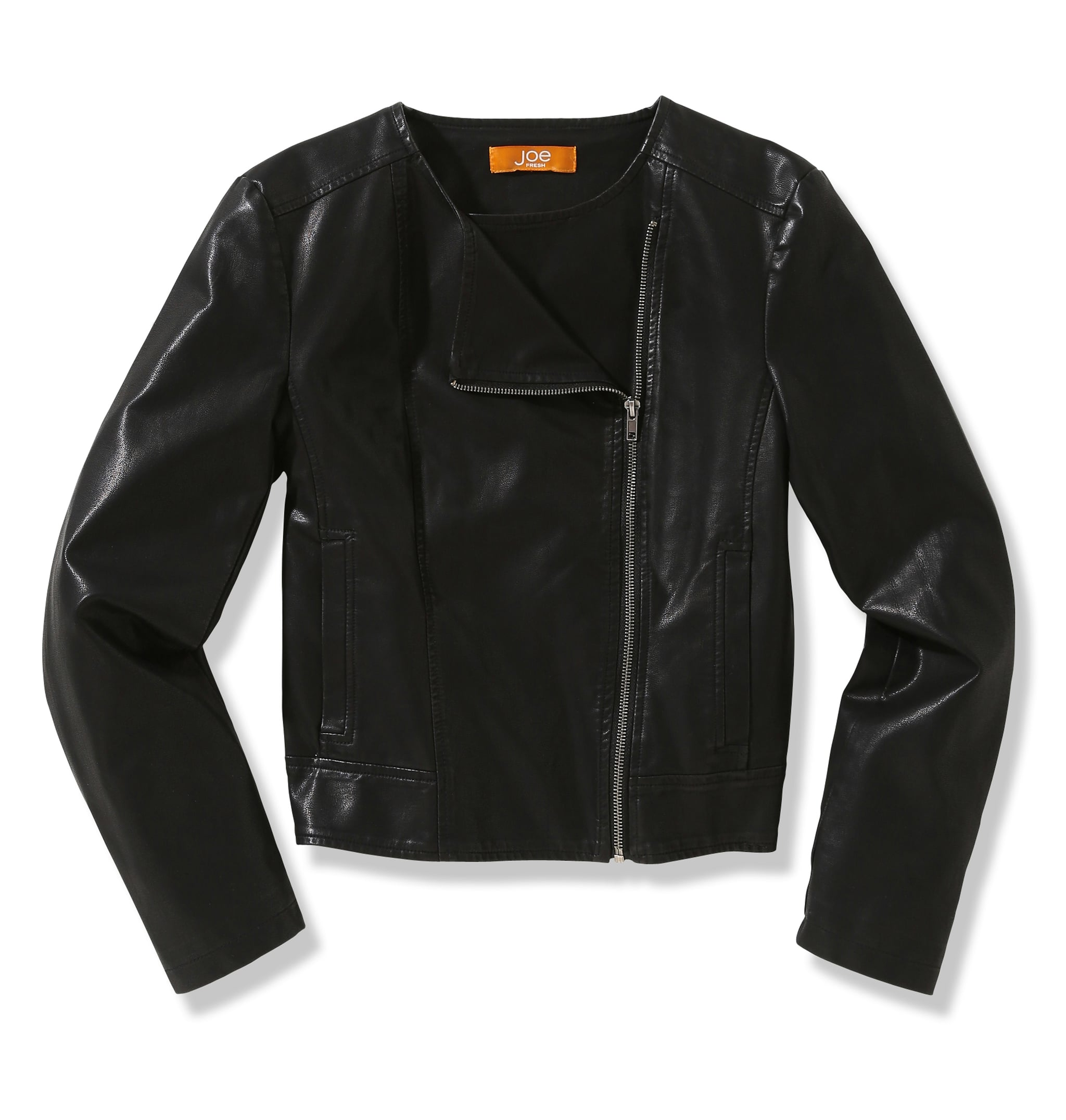 Clean lines and a classic cut? This simple Joe Fresh jacket ($49) will work on anyone.