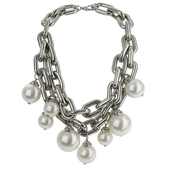 Topshop Chain and Pearl Necklace For Autumn