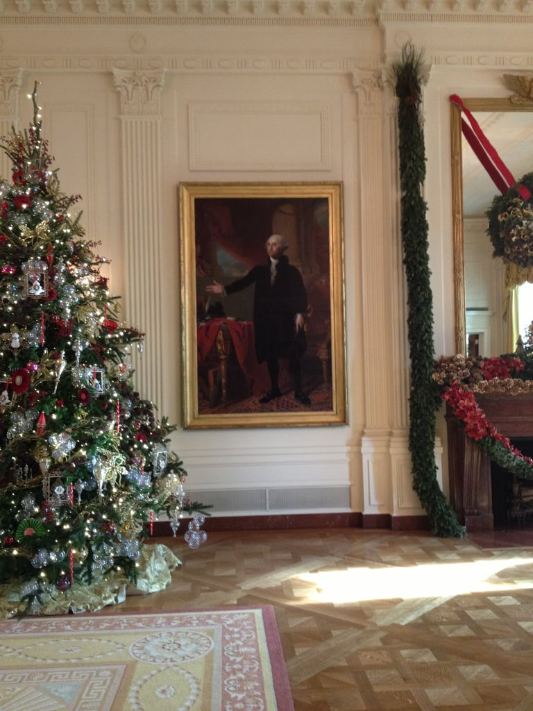 This portrait of George Washington was saved from a fire in the White House in 1814 by First Lady Dolly Madison, who must have been strong —the portrait is huge!