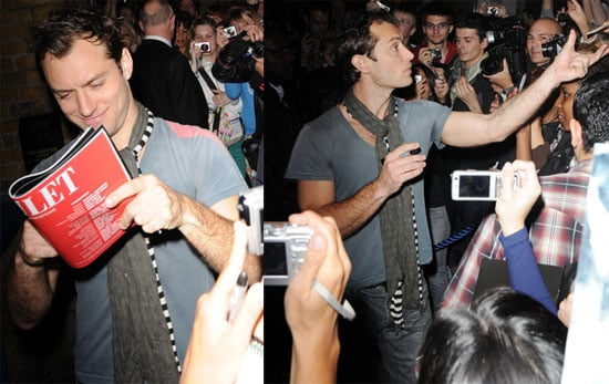 Photos of Jude Law Signing Autographs