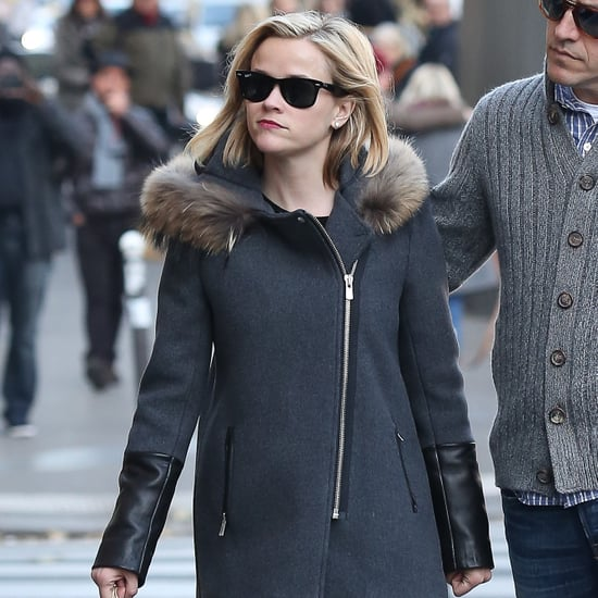Reese Witherspoon Sandro Coat in Paris 2013