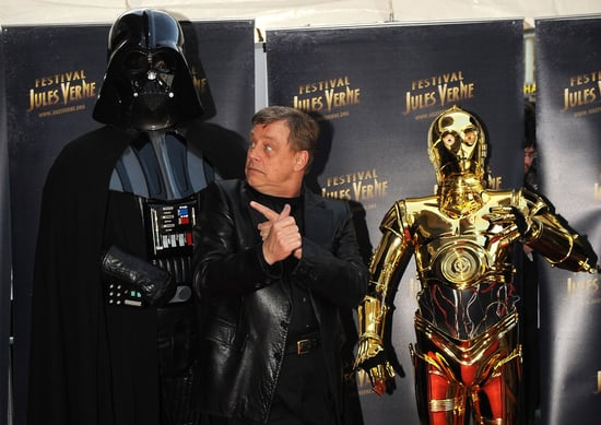 Picture of Mark Hamill With Darth Vader and C-3PO in France
