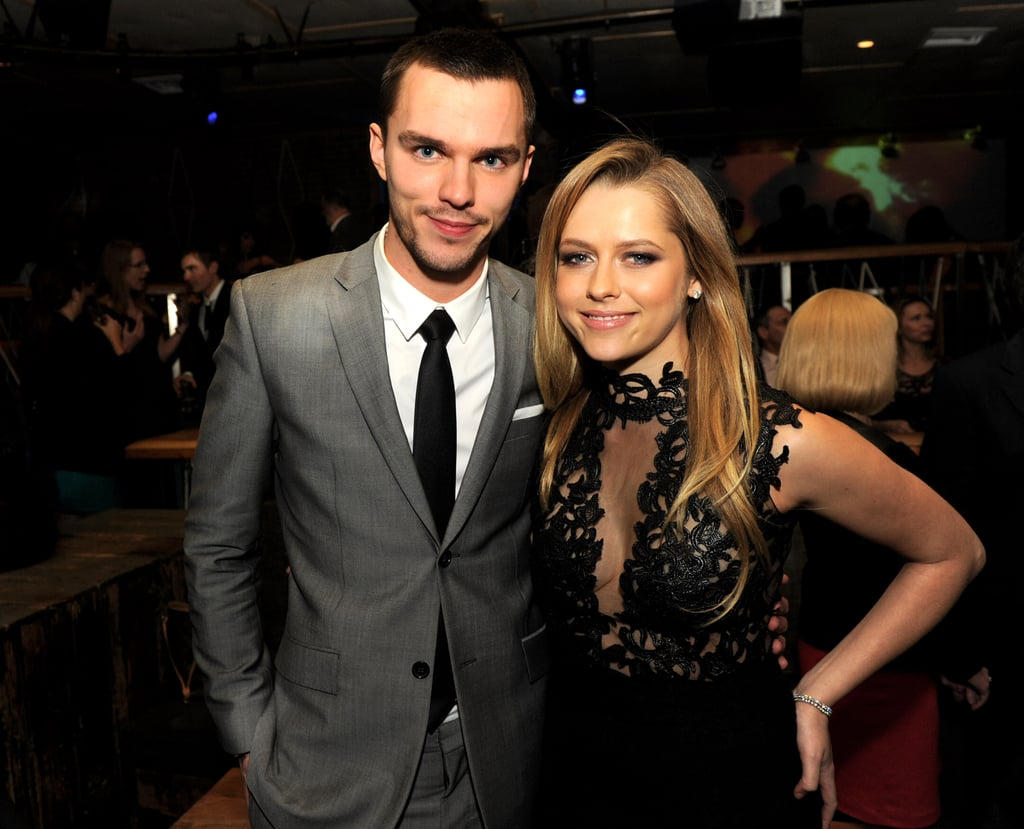 Nicholas Hoult posed with Teresa Palmer at the Warm Bodies premiere after party.