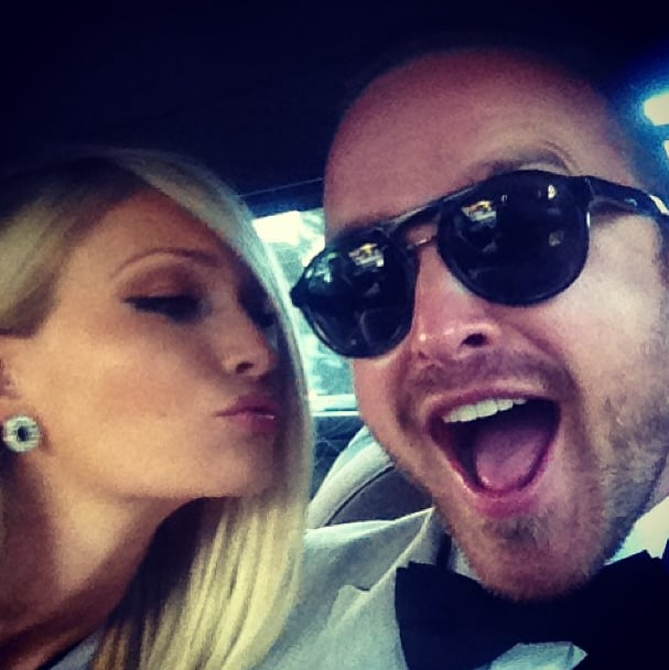 Aaron Paul couldn't contain his excitement ahead of his May 2013 wedding. Source: Instagram user glassofwhiskey