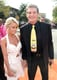 David Hasselhoff and Hayley Roberts held hands.