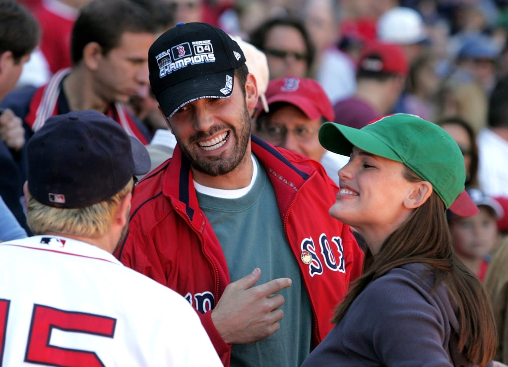 Ben Affleck and Jennifer Garner watched from the stands while his hometown team, the Boston Red Sox, played the NY Yankees in October 2005.