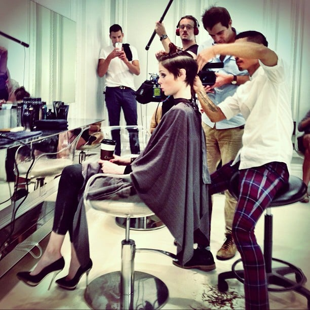 Coco Rocha gave us a glimpse at her (very short) new haircut. Source: Instagram user cocorocha
