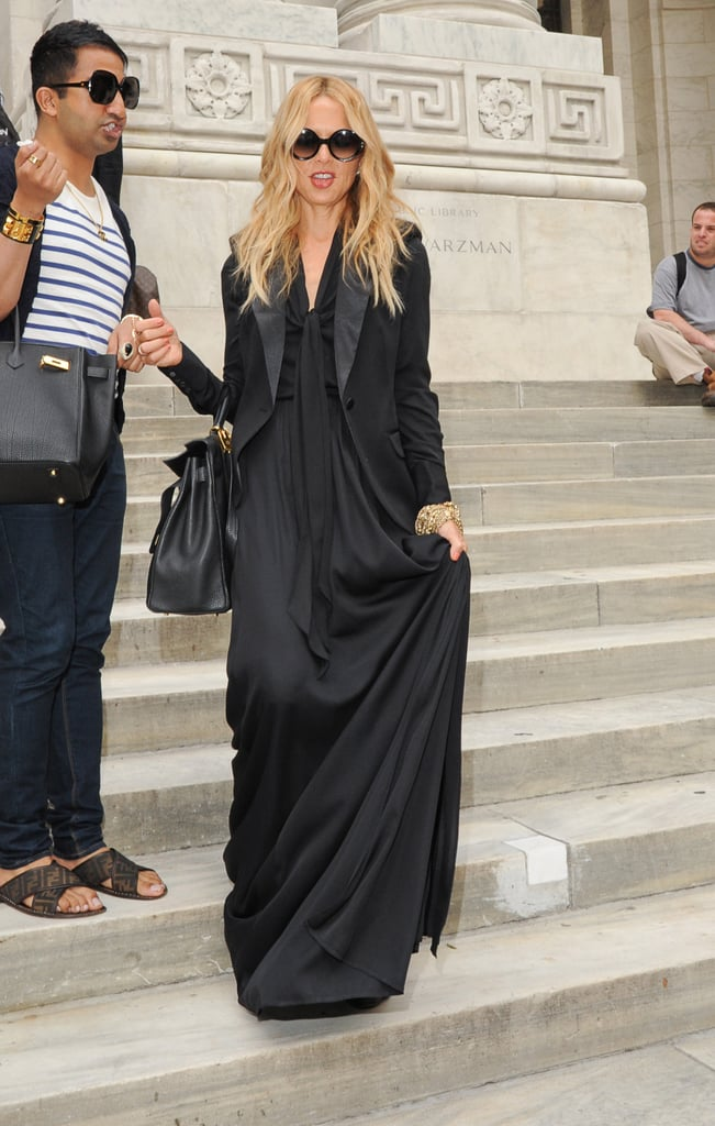 Rachel Zoe made a dramatic exit in all black at Lincoln Center.
