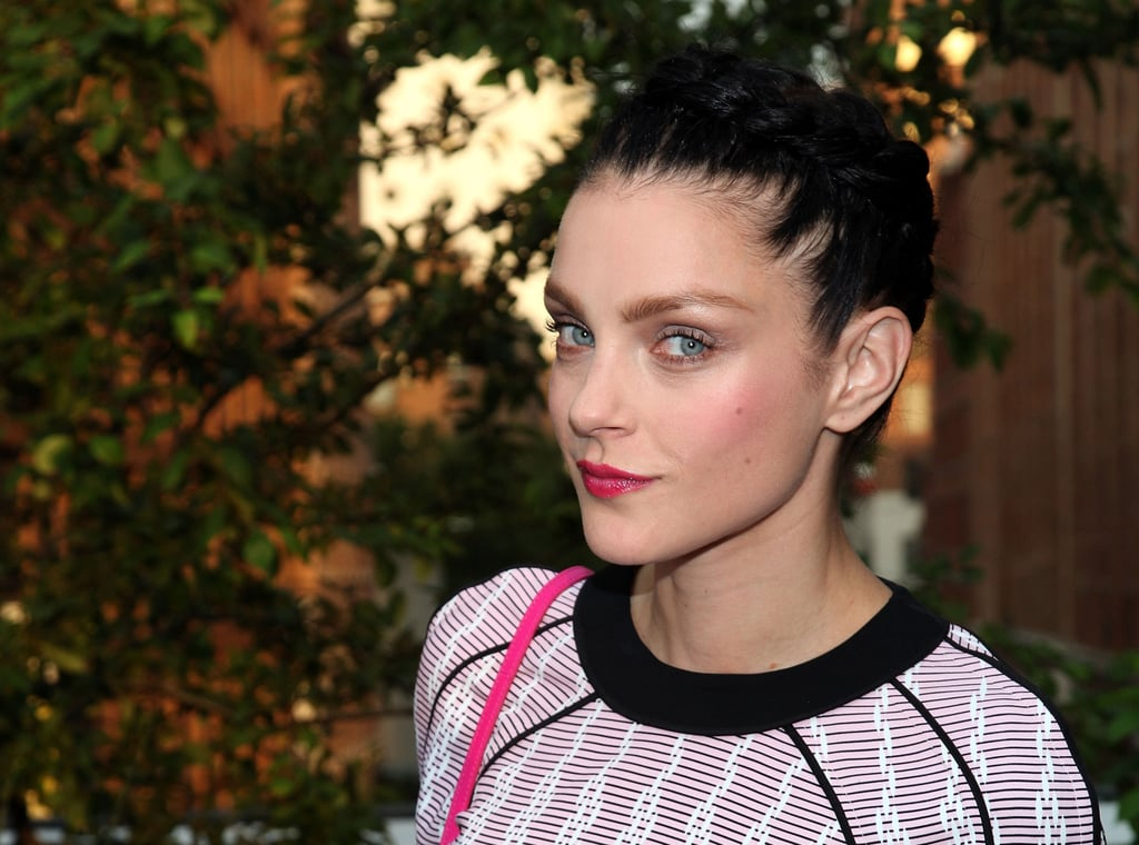 Jessica Stam posed at Coach's Summer Party on the High Line in NYC.