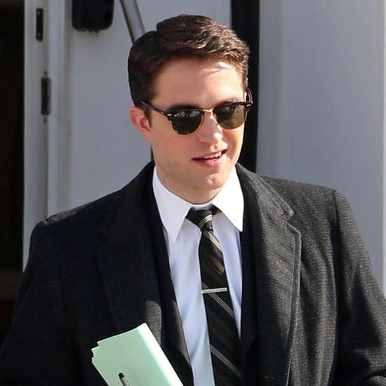 Robert Pattinson Filming Life With Black Hair