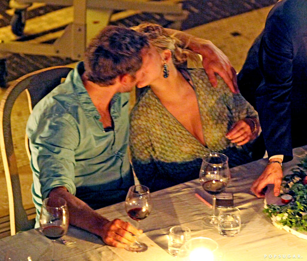 Jess and Eric shared a sweet smooch during her birthday dinner in Capri in July 2010.