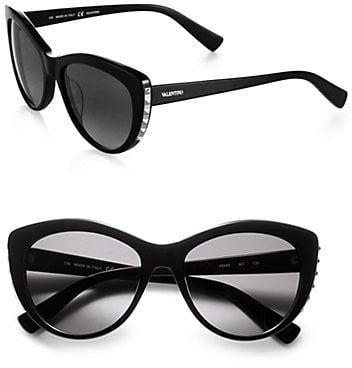 Valentino Metal Studded Cat's-Eye Sunglasses