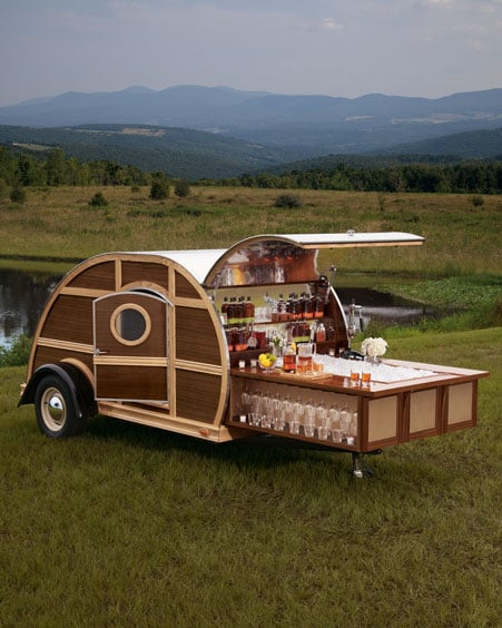 Love a tailgate party but hate the unorganized chaos? This chic Bulleit Woody Tailgate Trailer ($150,000) should do the trick. No doubt, you'll instantly become the coolest kid in the parking lot with this masterful creation, featuring a flat-screen TV, Blu-ray Disc player, state-of-the-art sound system, and one-year supply of Bulleit Bourbon and Bulleit Rye.