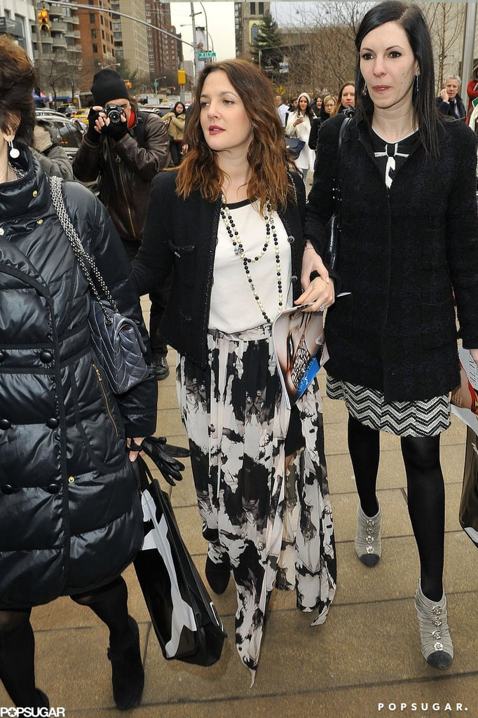 Drew Barrymore attended a show at New York Fashion Week.