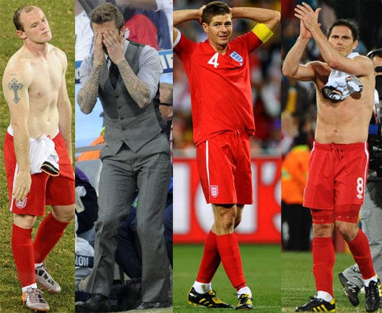 Pictures of England v Germany World Cup Game including David Beckham, Shirless Wayne Rooney Frank Lampard
