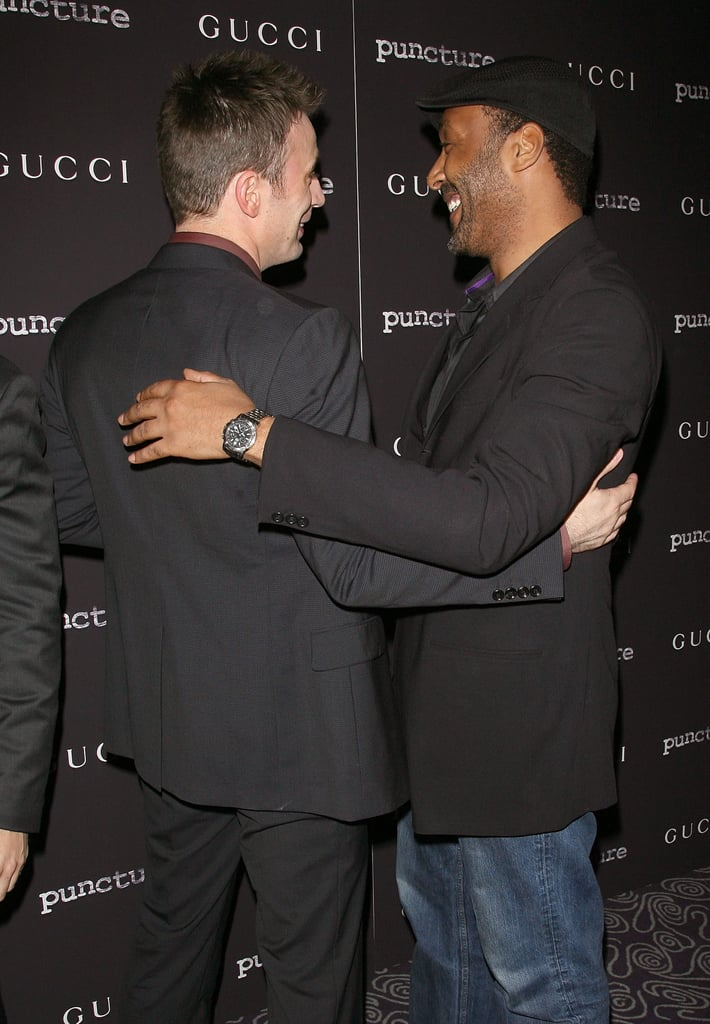 Chris Evans and Puncture costar Jesse L. Martin.