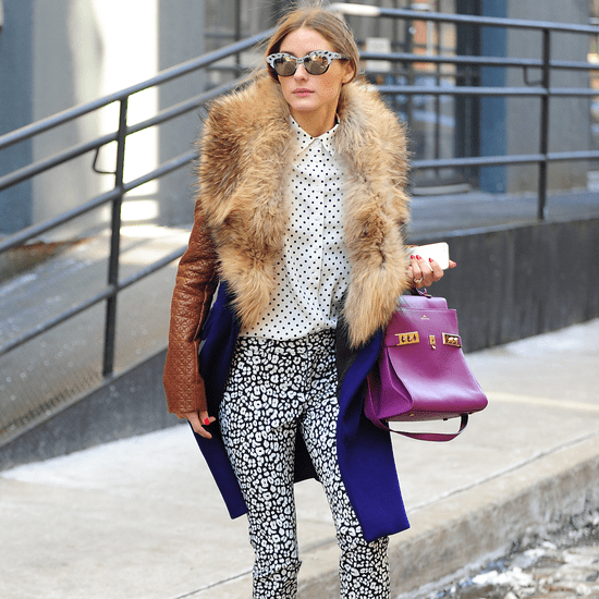 Olivia Palermo's Leopard-Print Banana Republic Pants