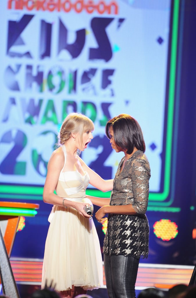 She wasn't expecting to be presented with an award by Michelle Obama at the Kids' Choice Awards in March 2012.