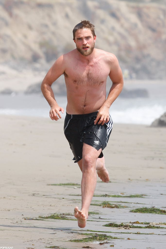 Robert Pattinson spent a shirtless day on the beach in Malibu this March.
