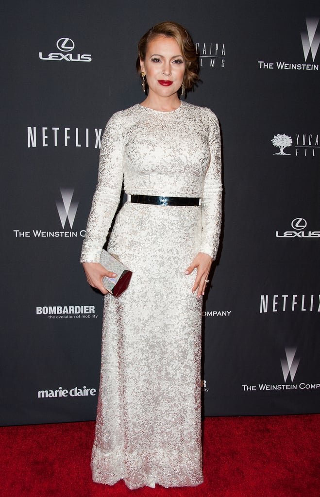 Alyssa Milano at the Netflix Golden Globes Afterparty