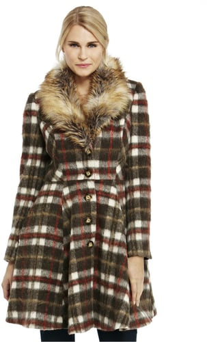 F&F Limited Edition Checked Skater Coat