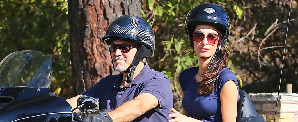 George and Amal Clooney Hit the Open Road For a Ride on His Motorcycle