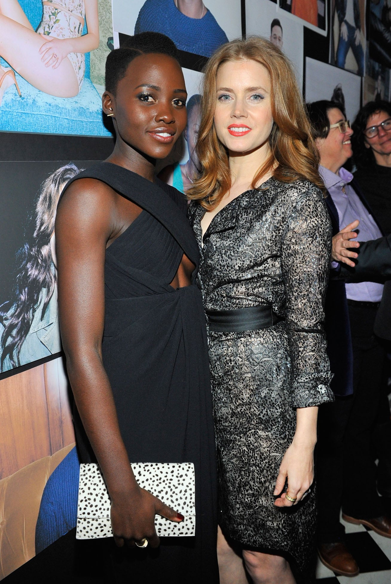 Amy Adams and Lupita Nyong'o were the stars of W magazine's preparty on Thursday.