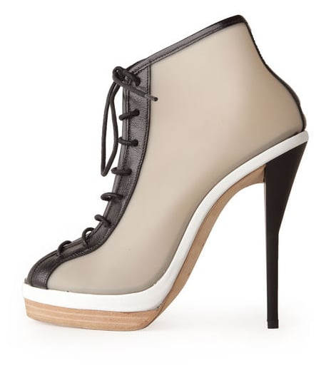 """The two-tone sole had us at """"hello,"""" but we also can't help but love how athletic and girlie this bootie manages to be. A Spring '12 trend win-win. 3.1 Phillip Lim Akita lace-up bootie ($850)"""