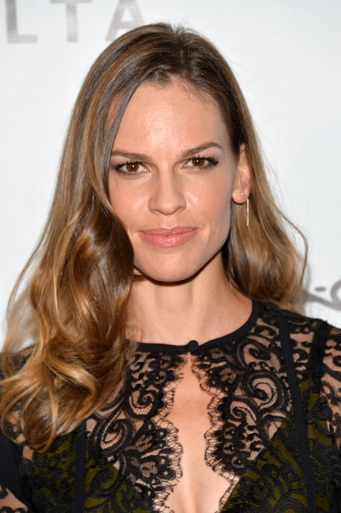 We love Hilary Swank's full-on glam style at the amfAR Inspiration Gala. Her brushed-out curls and gorgeous eyeliner made this look a winner.
