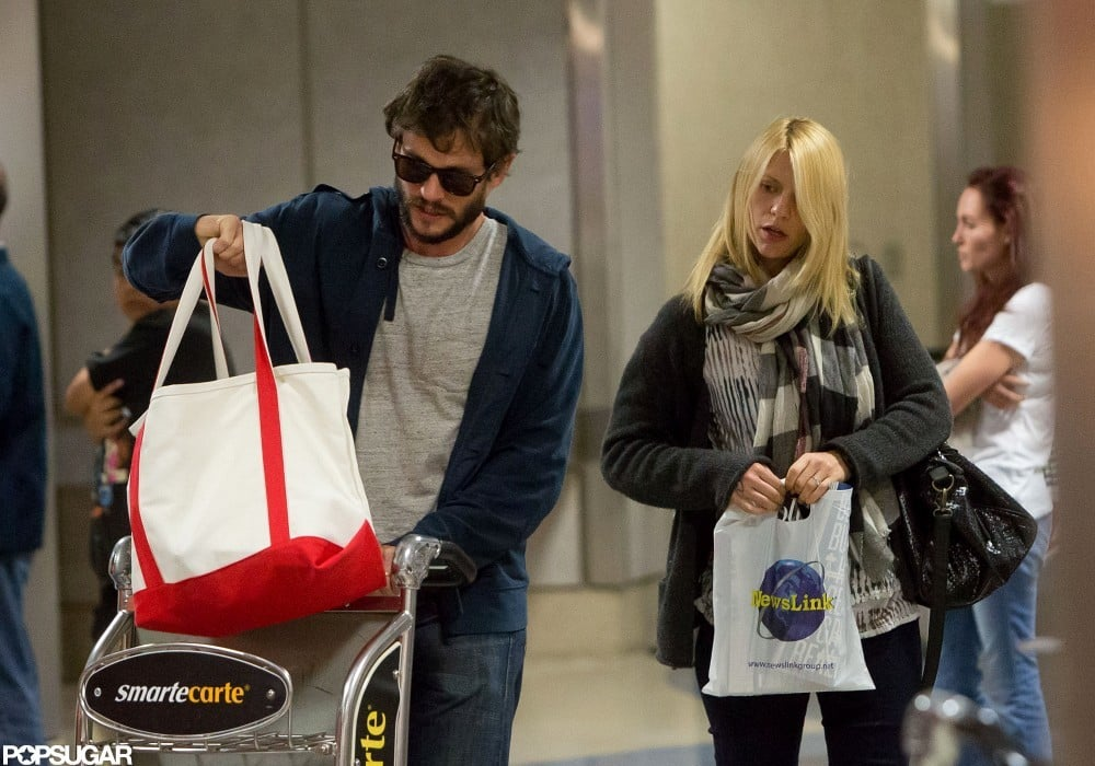 Claire Danes and Hugh Dancy arrived at LAX together.