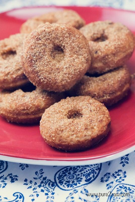Mini Vegan Vanilla Doughnuts