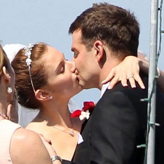 Bradley Cooper and Sienna Miller Kiss During Wedding Scene