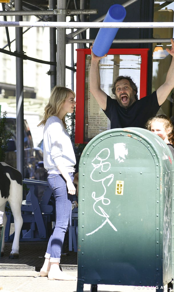 In With the Boss: Emma Stone and Judd Apatow Laugh It Up in NYC