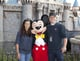 Matt and Luciana Damon posed for a picture with Mickey Mouse in April 2011.