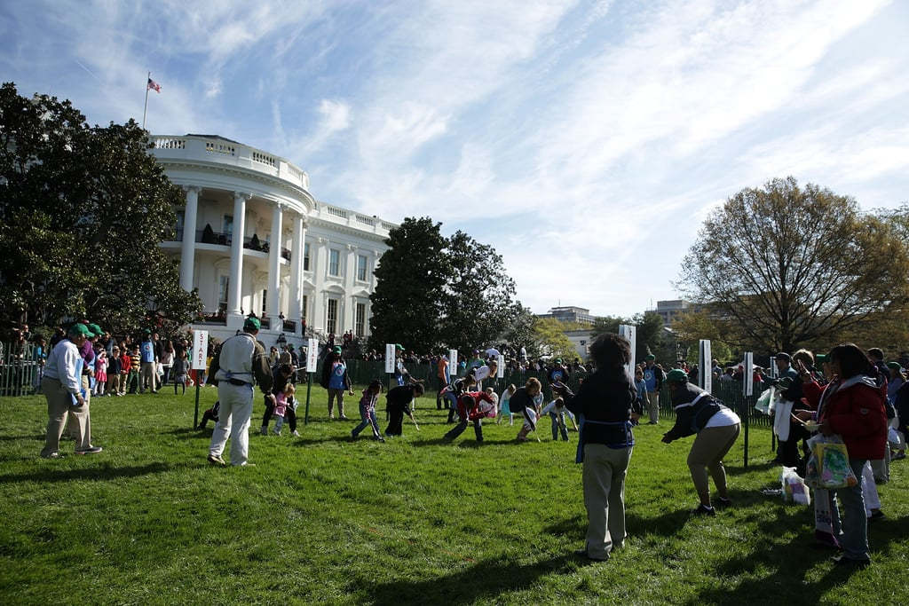 And the South Lawn was full of egg-rolling little ones.