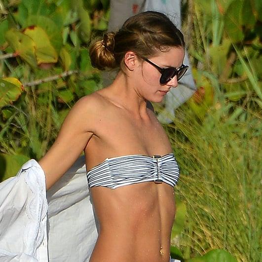 Olivia Palermo in a Bikini on the Beach