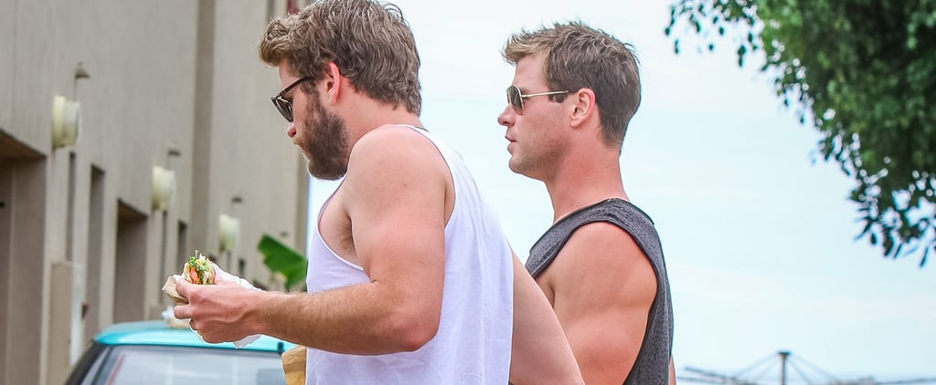 Chris and Liam Hemsworth Go Barefoot and Eat Burgers Down Under