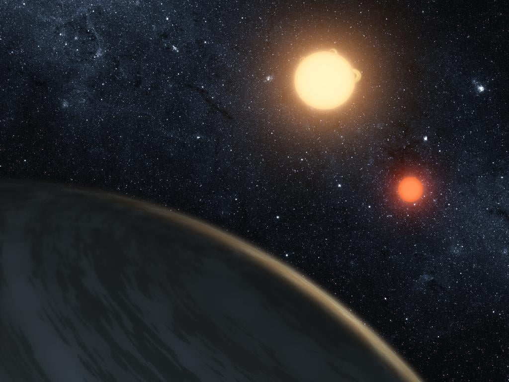 Kepler-16: In the Light of Two Suns