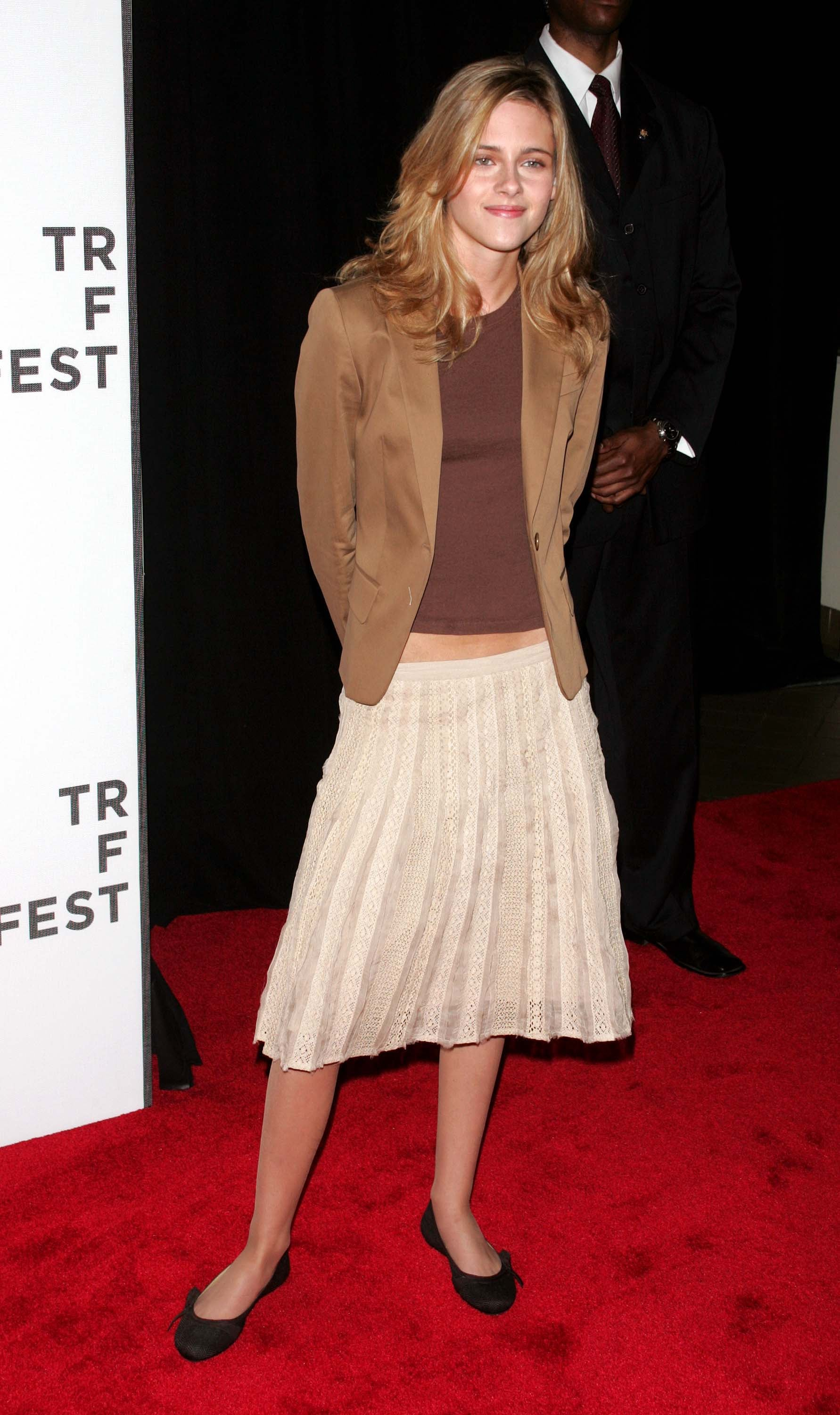 Kristen Stewart looked sophisticated at the Tribeca Film Festival Fierce People premiere in NYC in April 2005.