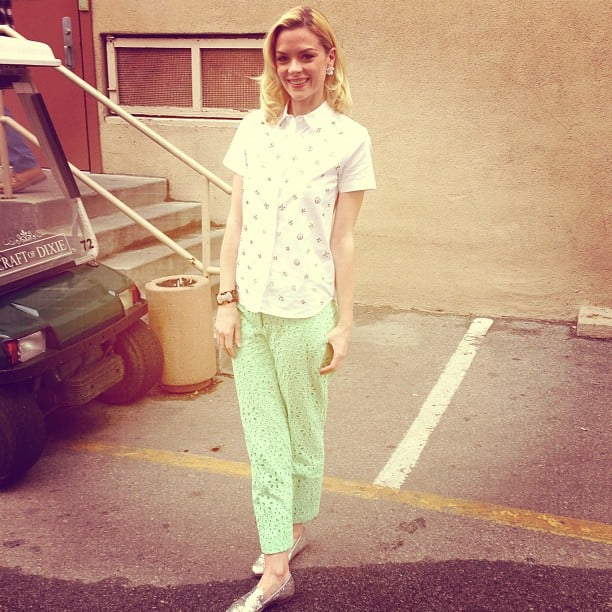 Jaime King snapped a photo from the set of Hart of Dixie. Source: Instagram user jaime_king