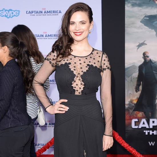 Hayley Atwell Captain America Winter Soldier Premiere Dress