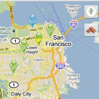 MeMap Shows Shared Check-Ins on a Map